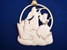 Wedgwood White Jasperware Angel's Rejoicing Christmas Ornament for Amway