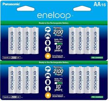 2 Pk =32 Batteries Panasonic Eneloop AA NiMH Rechargeable Battery HR6 2100 Cycle