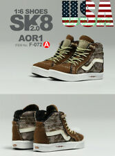 "1/6 Vans SK8 Hi Skateboard Sneakers A For 12"" Hot Toys PHICEN Male Figure❶USA❶"