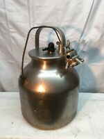 Vintage Delaval dairy milk farm jug can stainless steel USA with milk Surge