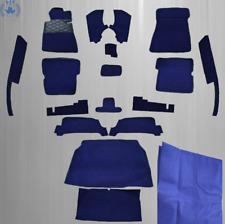 Teppichsatz für Mercedes Benz SL107 R107/W107 SLC -17 Teilig mit Isolierung,blau
