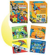 DC Super Heroes: DC Super Hero Starter Kit ABC 123,Colors Shapes +4 Board Books