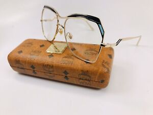 New MCM2122 740 Gold & Blue Eyeglasses 56mm with Case & Cloth