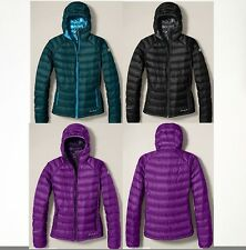 NWT Eddie Bauer Womens First Ascent Downlight StormDown Hooded Jacket Retail$249