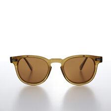 James Dean Style Horn Rim Sunglasses Crystal Brown/Brown - Benson