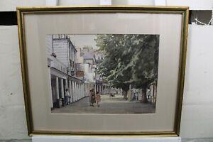 "Vintage Watercolour Painting ""The Pantiles Tunbridge Wells"" by Dr. Roland Rushto"