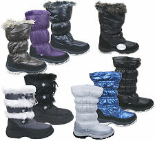 Womens New Fur Fleece Lined Winter Snow Boots Various Colours Free UK Postage