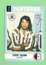 1977  PENRITH PANTHERS  SCANLENS RUGBY LEAGUE  CARD #28 TERRY QUINN