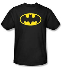 BATMAN - Classic Logo T-Shirt ,Blacks,100% Cotton & Blends, Short Sleeve