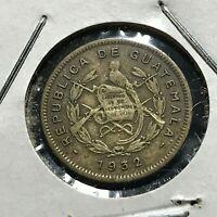 1932 GUATEMALA 1/2 CENTAVO  SCARCE COIN