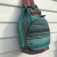 Cotton Backpack - Nepalese Handmade Ethnic Fair Trade Festival Rucksack Bag BP03