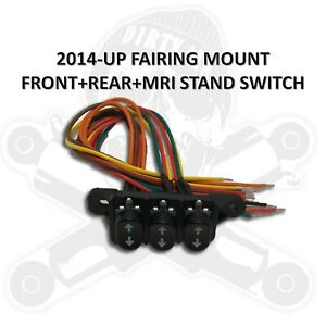 2014-Later Harley-Davidson Touring Dash Rocker Switches for AIR RIDE & MRI STAND