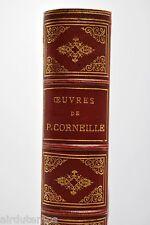 BEAU LIVRE 1877 THEÂTRE compl. P. CORNEILLE éd. LAPLACE portraits coloriés