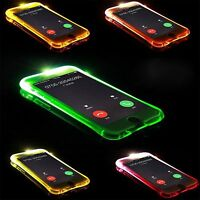 Custodia Cover case luminosa in tpu led flash per Apple IPhone 5 6 7 8 Plus SE X