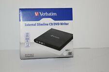 Verbatim External Slimline CD/DVD Writer Open box Tested