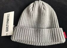 WACKO MARIA Knitted Wool Cap Beanie Guilty Parties Grey BNWT