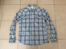 H&M    Soft Cotton Style Western Casual Shirts   Blue Check     Size M
