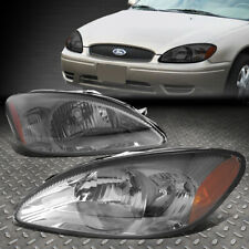 FOR 00-07 FORD TAURUS SMOKED HOUSING AMBER CORNER HEADLIGHT REPLACEMENT HEADLAMP