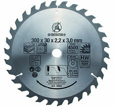 "BGS Germany TCT Circular Saw Blade 300mm Diameter 30mm Arbor 1"" Adaptor Ring"
