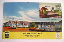 Classic Vintage Advertising Postcard for Fox & Hound Motel in San Diego Us 101 *