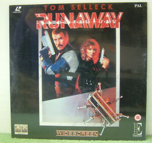 Runaway (1984) PAL Laser Disc, Sci-Fi Film, Tom Selleck, Cynthia Rhodes [EE1026]