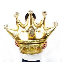Gold Crown Prince Princess Foil Balloon Wedding Birthday Party Supplies Decor