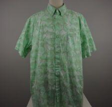COLUMBIA Mens XL PFG Cotton Fishing Shirt Button Front Fish Print Outdoors