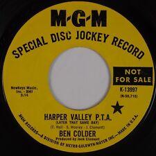 BEN COLDER: Harper Valley PTA / Folsom Prison Blues MGM Promo Parody 45 HEAR