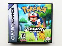 Pokemon Ash Gray Game / Case Nintendo Gameboy Advance GBA Grey Anime USA Seller