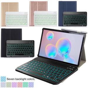 Backlit Wireless Keyboard PU Case For Samsung Galaxy Tab A7 10.4 2020(T500/505)
