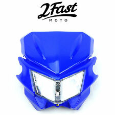 2FastMoto Acerbis Style Headlight Blue Dirtbike Offroad Motorcycle Yamaha