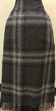 EMANUEL UNGARO Wool Wrap Skirt Sz L BLACK & Gray