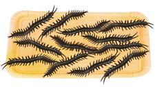 12 Plástico Negro Halloween ciempiés Decoración Utilería 6 cm Tamaño Araña Insectos Bug