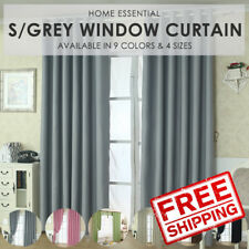 Sunlight Blackout Room Darkening Curtains 2 Panel Set- Silver Grey Size L