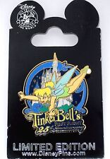 RARE LE Disney Pin✿Tink Tinker Bell First Flight Anniversary Castle Fireworks LE
