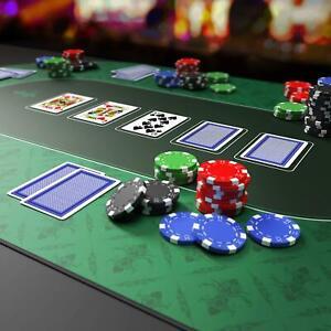 Texas Poker Hold'Em Layout Table Top Mat Pad Cover Waterproof Casino Green Felt