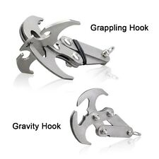 Cyfie Gravity Hook Stainless Steel Survival Folding Grappling Hook  Carabiners