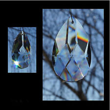 1PCS Crystal Almond 50mm Clear Teardrop Prism A-Grade Suncatcher Pendant