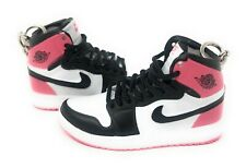 Hand Painted Retro High OG Jordan Pair of 3D Mini Shoe Keychains Pink Black