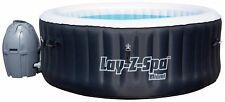 Bestway Lay-Z-Spa Miami 4 Person Inflatable Airjet Heated Round Hot Tub - Black