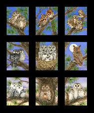 Owl Families Panel, Black, Elizabeth's Studios by Trazy Lizotte, (9 pictures)