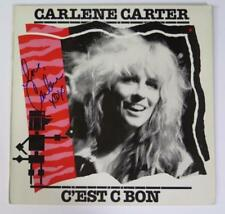 "CARLENE CARTER Signed Autograph ""C'est C Bon"" Album Vinyl Record LP  Johnny Cash"