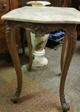 Small Accent Square Table with Marble Top