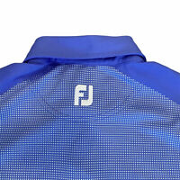 Footjoy Golf Polo Shirt Mens Large Short Sleeve Checkered Blue