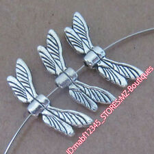 PJ200 20pc Tibetan Silver Dragonfly wings Spacer Beads Findings retro Wholesale