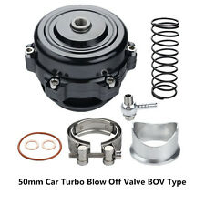 Car Turbo 50mm V-Band Blow Off Valve Dump Valve BOV with Aluminum Flange Black