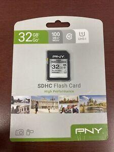 PNY 32GB High Performance Class 10 U1 SDHC Flash Memory Card