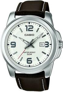 Casio Classic Analogue Watch MTP-1314PL-7AVEF Genuine Leather Strap RRP £49.90