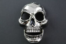 3D LARGE MIRROR SKULL BELT BUCKLE METAL WITH MOVABLE JAW