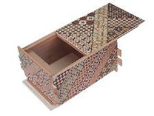 Japanese secret Puzzle 55 step gimmick Yosegi Hakone box craft work koyosegi
